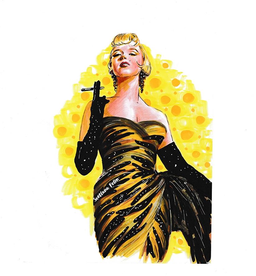 Marilyn Monroe por svetliaciok
